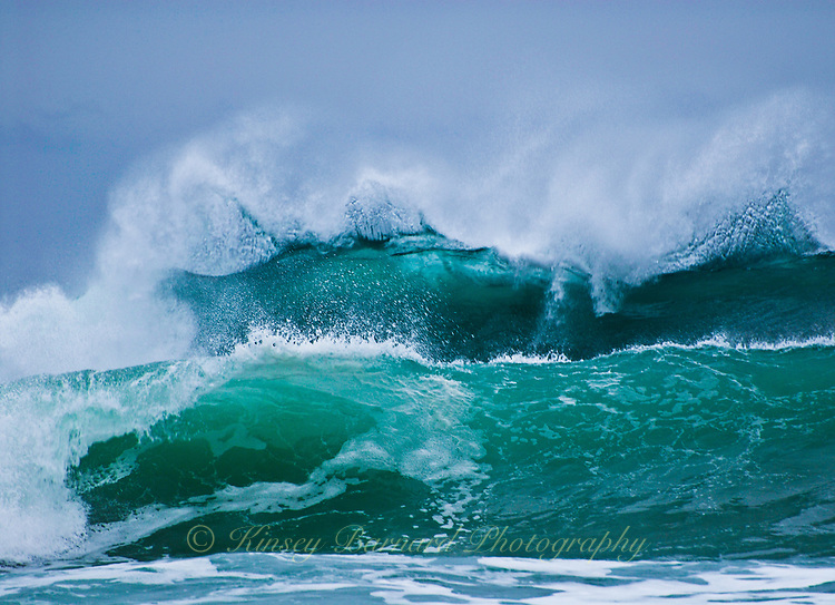&quot;RAGE OF WAVES&quot;<br /> <br /> Gorgeous aquamarine waves breaking and forming spindrifts on the Oregon Coast