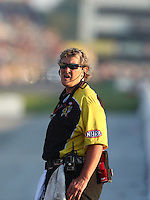 Sep 24, 2016; Madison, IL, USA; NHRA safety safari official XXXX during qualifying for the Midwest Nationals at Gateway Motorsports Park. Mandatory Credit: Mark J. Rebilas-USA TODAY Sports