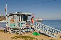 Lifeguard Stand, Pier, Malibu, California