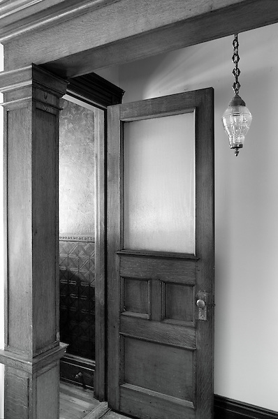 The vestibule and hall in the former home A.W. Leh, 435 Pawnee St, in Fountain Hill.