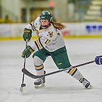 14 February 2015: University of Vermont Catamount Defender Gina Repaci, a Junior from Toronto, Ontario, in first period action against the University of New Hampshire Wildcats at Gutterson Fieldhouse in Burlington, Vermont. The Lady Catamounts rallied from a 3-1 deficit to earn a 3-3 tie in the final home game of their NCAA Hockey East season. Mandatory Credit: Ed Wolfstein Photo *** RAW (NEF) Image File Available ***
