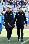 10 April 2016: U.S. head coach Jill Ellis (ENG) (left) with assistant coach Dawn Scott (ENG) (right). The United States Women's National Team played the Colombia Women's National Team at Talen Energy Stadium in Chester, Pennsylvania in an women's international friendly soccer game. The U.S. won the match 3-0.