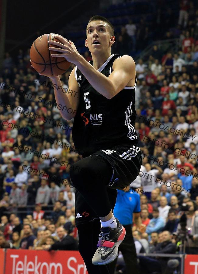 Kosarka ABA League season 2015-2016<br /> Crvena Zvezda v Partizan<br /> Petar Aranitovic<br /> Beograd, 03.11.2015.<br /> foto: Srdjan Stevanovic/Starsportphoto&copy;