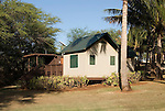 Hawaii: Molokai, eco-lodging at The Lodge at Moloki Ranch, at Kaupoa Beach, self-sufficient lodgings with own solar electricity, solar hot water, and composting toilet..Photo himolo197-71920..Photo copyright Lee Foster, www.fostertravel.com, lee@fostertravel.com, 510-549-2202