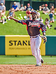 21 March 2015: Atlanta Braves infielder Pedro Ciriaco in action during a Split Squad Spring Training game against the Washington Nationals at Champion Stadium at the ESPN Wide World of Sports Complex in Kissimmee, Florida. The Braves defeated the Nationals 5-2 in Grapefruit League play. Mandatory Credit: Ed Wolfstein Photo *** RAW (NEF) Image File Available ***
