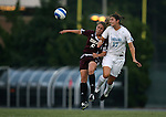 07 September 2007: North Carolina's Yael Averbuch (17) heads the ball over Texas A&M's Laura Grace Robinson (5). The University of North Carolina Tar Heels defeated the Texas A&M University Aggies 2-1 at Fetzer Field in Chapel Hill, North Carolina in an NCAA Division I Women's Soccer game, and part of the annual Nike Carolina Classic tournament.