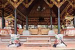 Ubud, Bali, Indonesia; inside the Balinese Hindu temple, Pura Desa