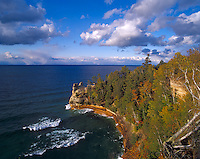 Pictured Rocks National Lakeshore, MI<br /> Lake Superior and cove at Miner's Castle