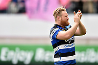 Ross Batty of Bath Rugby acknowledges the travelling support after the match. European Rugby Challenge Cup Semi Final, between Stade Francais and Bath Rugby on April 23, 2017 at the Stade Jean-Bouin in Paris, France. Photo by: Patrick Khachfe / Onside Images