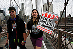 Protest held in New York against police brutality towards minorities