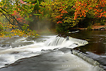 Misty Upper Bond Falls in Autumn