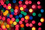Outdoor christmas light in bokeh.
