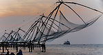 Chinese fishing nets, Fort Kochi, Kerala, India
