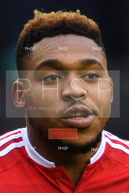 25/02/2017 Sky Bet Championship Wigan Athletic v Nottingham Forest<br /> <br /> Britt Assombalonga, Nottingham Forest FC