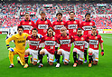Urawa Reds team group line-up,.APRIL 14, 2012 - Football / Soccer :.Urawa Reds team group shot (Top row - L to R) Keisuke Tsuboi, Mitsuru Nagata, Yuki Abe, Tomoaki Makino, Keita Suzuki, (Bottom row - L to R) Nobuhiro Kato, Tsukasa Umesaki, Tadaaki Hirakawa, Yosuke Kashiwagi, Popo and Marcio Richardes before the 2012 J.League Division 1 match between Urawa Red Diamonds 2-0 Vissel Kobe at Saitama Stadium 2002 in Saitama, Japan. (Photo by AFLO)