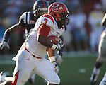 Jacksonville State running back Calvin Middleton (3) runs the ball at Vaught-Hemingway Stadium in Oxford, Miss. on Saturday, September 4, 2010. Jacksonville State won 49-48 in double overtime.