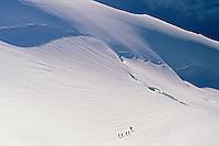 Alpinists on Dômes de Miage, Mont-Blanc massif, Chamonix, France, 1996
