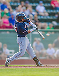1 September 2013: Connecticut Tigers infielder Jesus Ustariz, a native of Los Teques, Venezuela, in action against the Vermont Lake Monsters at Centennial Field in Burlington, Vermont. The Lake Monsters fell to the Tigers 6-4 in 10 innings of NY Penn League action. Mandatory Credit: Ed Wolfstein Photo *** RAW Image File Available ****