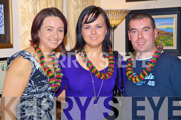 Pictured at the Hawaiian night in Darby O'Gills Hotel, Killarney on Saturday night were Karina O'Mahony, Cara Reen and Mattie O'Sullivan.