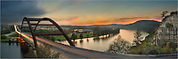 This 360 Bridge image shows in a panorama form the bridge as it spans the Colorado River.