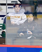 Brian Gibbons (BC 17), Joe Whitney (BC 15) - The 2008 Frozen Four participants practiced on Wednesday, April 9, 2008, at the Pepsi Center in Denver, Colorado.