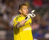 Real Salt Lake goalkeeper Nick Rimando (18). The LA Galaxy defeated Real Salt Lake 2-1 at Home Depot Center stadium in Carson, California on Saturday April 17, 2010.  .