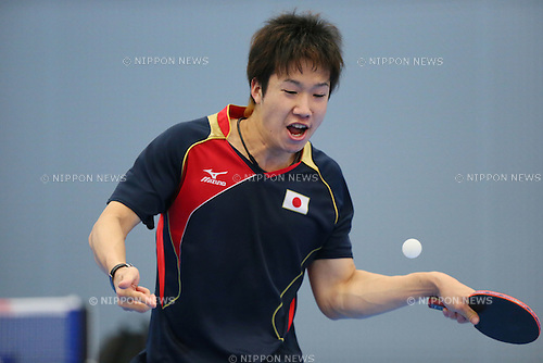 Jun Mizutani (JPN), JULY 9, 2012 - Table Tennis : Japan national team training session for London Olympic Games 2012 .at Ajinomoto National Training Center, Tokyo, Japan. (Photo by YUTAKA/AFLO SPORT)
