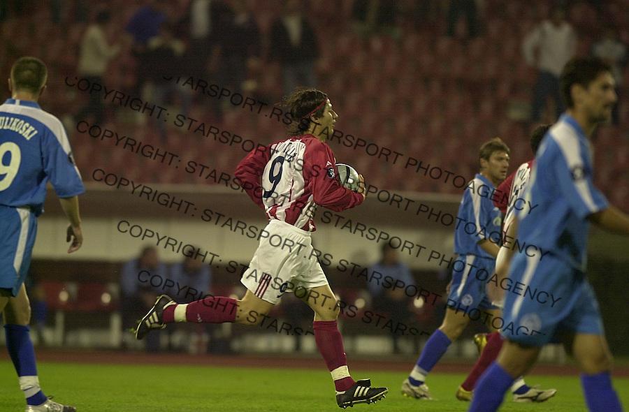SPORT FUDBAL KUP UEFA CRVENA ZVEZDA ZENIT Marko Pantelic 30.09.2004. foto: Pedja Milosavljevic