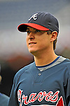 13 April 2008: Atlanta Braves' second baseman Kelly Johnson awaits his turn in the batting cage prior to a game against the Washington Nationals at Nationals Park, in Washington, DC. The Nationals ended their 9-game losing streak by defeating the Braves 5-4 in the last game of their 3-game series...Mandatory Photo Credit: Ed Wolfstein Photo