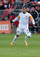 20 April 2013: Houston Dynamo midfielder Corey Ashe #26 in action during an MLS game between the Houston Dynamo and Toronto FC at BMO Field in Toronto, Ontario Canada..The game ended in a 1-1 draw...