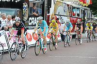 WIELRENNEN: SURHUISTERVEEN: 05-08-2014, Profronde Surhuisterveen, Alessandro Vanotti voor Vincenzo Nibali en Lieuwe Westra, ©foto Martin de Jong