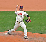 14 September 2008: Cleveland Indians' pitcher Juan Rincon on the mound in relief against the Kansas City Royals at Progressive Field in Cleveland, Ohio. The Royal defeated the Indians 13-3 to take the 4-game series three games to one...Mandatory Photo Credit: Ed Wolfstein Photo