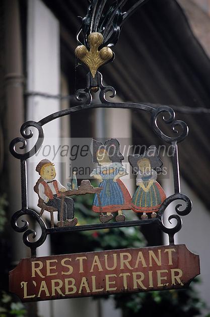 Europe/France/Alsace/68/Haut-Rhin/Riquewihr : Enseigne restaurant