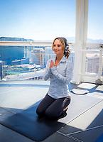 Giada De Laurentiis attends Yoga class on The High Roller Observation Wheel in Las Vegas