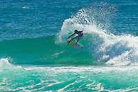 """Coolangatta, Queensland, Australia (Sunday February 13th 2011): Jeremy Flores (FRA).   SNAPPER SURFRIDERS CLUB have confirmed their status as Australia's premier boardriding club by winning the 2011 Rhythm Kirra Teams Challenge in excellent 1m (3feet) surf at Duranbah Beach on the southern Gold Coast..It was Snapper's 9th win of this prestigious title, placing them well ahead of their closest rival Kirra who placed second..Today's victory was typical of this event, getting down to the very last surfer of their 8 man team to bring the victory home in a nail biting finish..Clint Kimmins was the Snapper surfer with all the pressure placed on him as the final surfer. The equation was simple, win the heat and win the title for Snapper, lose and the title would be won by either Merewether (NSW) or Kirra (Qld)... It was a see-sawing duel between Kimmins and Palm Beach Boardriders surfer Jeff Norris with multiple changes in the lead but in the end Kimmins won by just 0.23 of a point..""""That was the toughest heat I've surfed"""" said a relieved Kimmins after the heat.."""" Surfing for the team, I knew the situation and I just tried to concentrate on surfing my best but the pressure was there - knowing Parko and Deano and the whole rest of the team had done their job to get us to a winning position - it was tough but it feels great now - we're number one club!"""".Snapper's win was incredible as they started the event with 3 consecutive 2nd placings in their 8 surfer team and many thought they were gone in the early stages..However, their final 5 surfers brought home 5 consecutive wins and they stole the title..Their team and heat placing were as follows - Blake Ainsworth (2nd), Mitch Crews (2nd),  Jay Phillips (2nd), Ice Periera-Ryan (1st), Shaun Gossman (1st), Joel Parkinson (1st), Dean Morrison (1st) and Clint Kimmins (1st)... A number of outstanding ASP World Tour and former world tour surfers competed for the pride of their club today, lead by former two time world champion Mick F"""