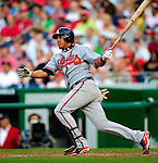 3 July 2009: Atlanta Braves shortstop Yunel Escobar in action against the Washington Nationals at Nationals Park in Washington, DC. The Braves defeated the Nationals 9-8 to take the first game of the 3-game weekend series. Mandatory Credit: Ed Wolfstein Photo