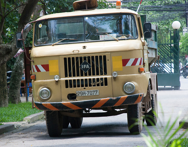 Hanoi, Vietnam, An East German made IFA truck used by the governement parks department. photo taken July 2008.