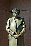 Washington DC; USA: The Franklin Delano Roosevelt Memorial. Sculpture of Eleanor .Roosevelt, wife of the president.  .Photo copyright Lee Foster Photo # 14-washdc83207