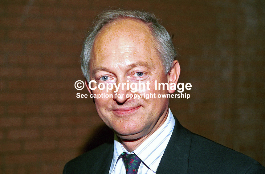 Douglas French, MP, Conservative Party, Britain, UK. Photograph taken at 1996 Conservative Party Conference in Bournemouth. Ref: 199610361..Copyright Image from Victor Patterson, 54 Dorchester Park, Belfast, UK, BT9 6RJ..Tel: +44 28 9066 1296.Mob: +44 7802 353836.Voicemail +44 20 8816 7153.Skype: victorpattersonbelfast.Email: victorpatterson@mac.com.Email: victorpatterson@ireland.com (back-up)..IMPORTANT: If you wish to use this image or any other of my images please go to www.victorpatterson.com and click on the Terms & Conditions. Then contact me by email or phone with the reference number(s) of the image(s) concerned.