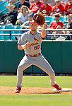 8 March 2006: Chris Duncan, infielder for the St. Louis Cardinals, makes the catch at first base during a Spring Training game against the Washington Nationals. The Cardinals defeated the Nationals 7-4 in 10 innings at Space Coast Stadium, in Viera, Florida...Mandatory Photo Credit: Ed Wolfstein.