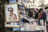 Yemen. Sanaa. portrait of the president saleh in the streets       /   sc&egrave;nes de rue a Sanaa    / Portrait du president Saleh
