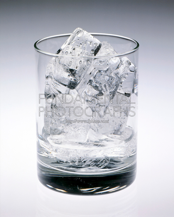 ICE CUBES MELTING IN A GLASS<br /> (1 of 2)<br /> Water Freezes At 0 deg F At 1 Atm.
