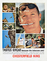Chesterfield cigarette ad, 1963. Photo by John G. Zimmerman