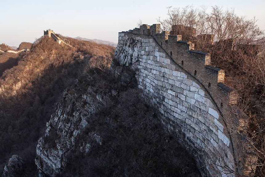 Partly survived, Jiankou Great Wall offers a much wilder experience compared to the restored part of the Great Wall such in Badaling and Mutianyu. Here, the tower and the wall were built high atop the ridge.