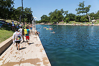 Within Zilker Park's 358 acres lies one of the crown jewels of Austin - Barton Springs Pool. The pool itself measures three acres in size, and is fed from underground springs with an average temperature of 68-70 degrees, ideal for year-round swimming. Over the years, Barton Springs Pool has drawn people from all walks of life, from legislators who have concocted state laws there to free-spirited, topless sunbathers who turned heads in the 1970s. Robert Redford learned to swim at the pool when he was five years old while visiting family in Austin. Today, Barton Springs still attracts a diverse crowd of people and has seen record setting numbers of visitors nearing 800,000 in recent years.