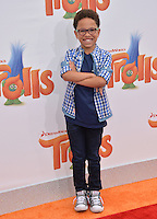 LOS ANGELES, CA. October 23, 2016: Actor Sage Correa at the Los Angeles premiere of &quot;Trolls&quot; at the Regency Village Theatre, Westwood.<br /> Picture: Paul Smith/Featureflash/SilverHub 0208 004 5359/ 07711 972644 Editors@silverhubmedia.com