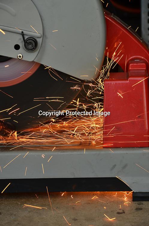 Stock Photo of a man welding
