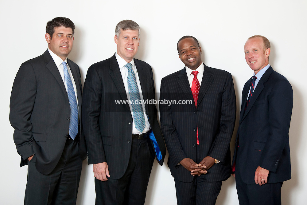 (LtoR) Andrew S. Goodstadt, Scott Browning Gilly, Kenneth P. Thompson and Douglas H. Wigdor, attorneys, Thompson Wigdor & Gilly LLP, New York, USA, 7 July 2009.