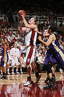 10 February 2007: Stanford Cardinal Kristen Newlin during Stanford's 80-54 win against the Washington Huskies at Maples Pavilion in Stanford, CA.