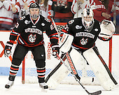 Colton Saucerman (NU - 23), Chris Rawlings (NU - 37) - The visiting Northeastern University Huskies defeated the Boston University Terriers 6-5 on Friday, January 18, 2013, at Agganis Arena in Boston, Massachusetts.